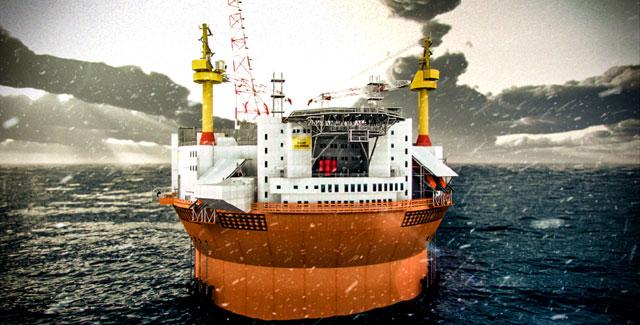 FPSO Goliat arriva in Norvegia