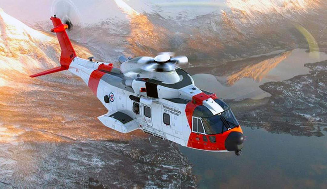 Finmeccanica: volo inaugurale elicottero AgustaWestland AW101 da ricerca e soccorso